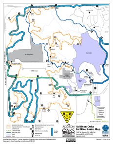 2015 Addison Oaks Fat Bike Route Map