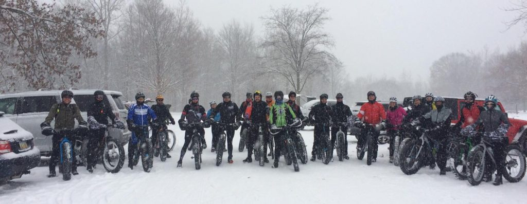 Mid-December 2016 First Big Snow Group Ride at River Bends