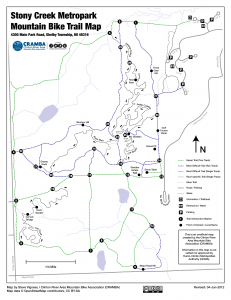 Stony Creek Metropark Map New CRAMBA Stony Creek MTB Trail Maps | CRAMBA IMBA